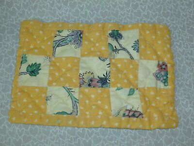 Charming Vintage Patchwork Doll Quilt-Hand Made 5