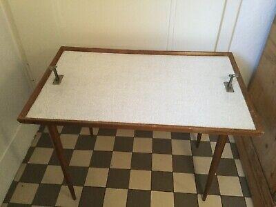 Serviertisch alt Klapptisch Beistellstisch Retro Vintage kleiner Tisch Picknick