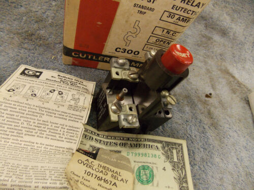 Cutler Hammer 10176H67A  AC Thermal Overload Relay 1 Coil Part 10-1308-11 BT-L1