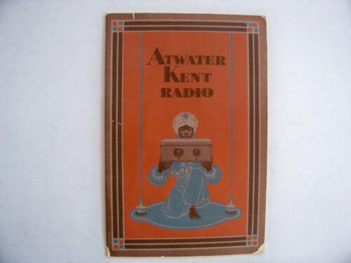 1928 Atwater Kent Radio Catalog by Kent Radio