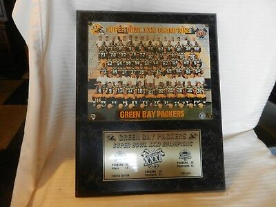 Green Bay Packers 1996 Super Bowl XXXI Champions NFL Photo Plaque on Wood LE