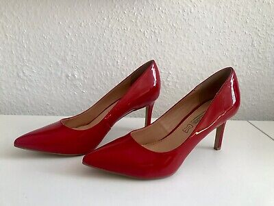 Buffalo Lacklederpumps Pumps Lackleder Lack Leder Rot Gr. 40 NEU
