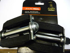 Raleigh Vintage Rubber Type Block Bike Cycle Pedal Chopper Style Black 9/16