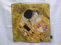 Silk Scarf Christmas Gift  Gustav Klimt Repro The Kiss