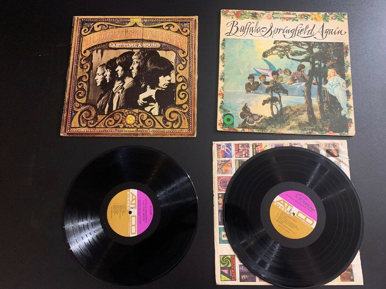 PAIR OF LPS RECORDS - BUFFALO SPRINGFIELD - LAST TIME AROUND AGAIN - $12.99