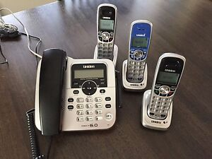Home Phone Set Uniden Dect 6.0 - like new
