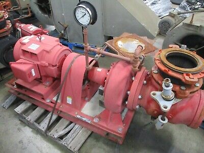 Bell Gossett 1510 Pump 6e 9.750 Bf 40hp 1270gpm 78ft Head 1800rpm Used