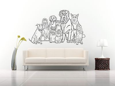 Wall Room Decor Art Vinyl Sticker Mural Decal Types Of Dog Breeds Animal FI115