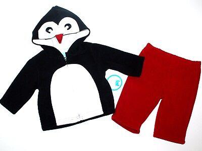 Jacke+Hose~USA~Pinguin~PLACE~schwarz-Zweiteiler~Fleecejacke (Pinguin-anzug Baby)