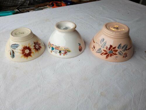 3 French Vintage Café au Lait Bowls