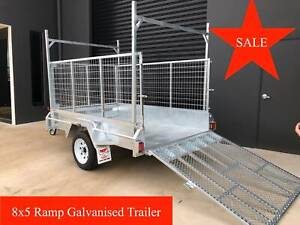 8x5 Single Axle Trailer Galvanised with Ramp 600m Boronia Knox Area Preview
