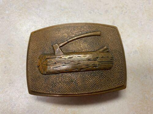 Vintage Boy Scout Woodbadge Brass Belt Buckle B.B.Co.