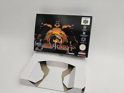 Mortal Kombat 4 - reproduction box with insert - N64 - Pal . HQ !