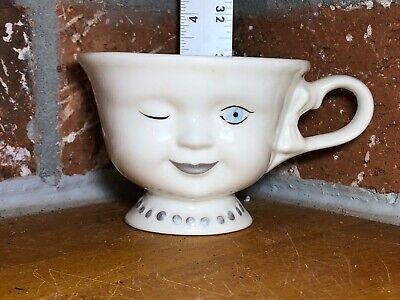 Vintage Bailey's Irish Cream Ceramic Yum Winking Lady Girl Face Cup Mug Coffee