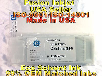 compatible Epson SureColor s30670 s50670 cyan eco solvent ink cartridge inkjet f