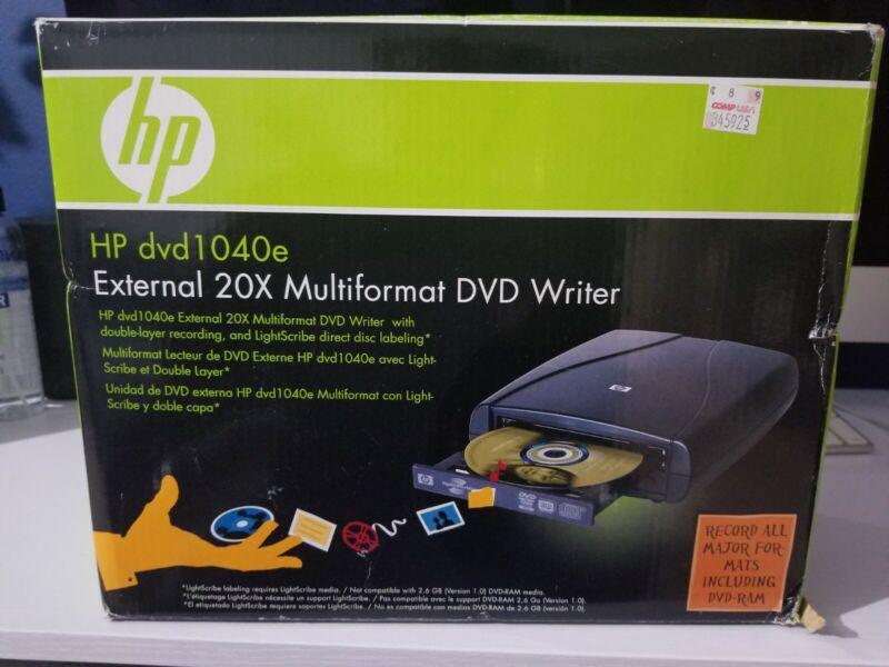 HP DVD1040e External 20X Multiformat DVD Writer 844149031668