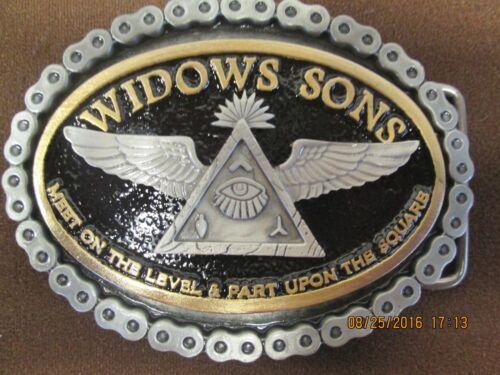widows sons freemasons masonic belt buckle