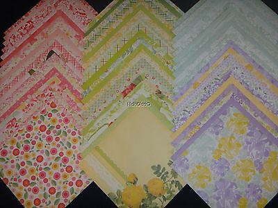 12x12 Scrapbook Paper DCWV Fresh Floral Stack Flowers Gardens Mothers Day 60 Lot (Floral Scrapbook Paper)