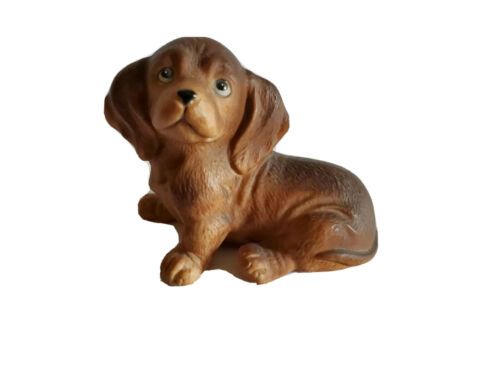 Adorable Vintage Daschund Puppy Dog Figurine 1467 HOMCO W4