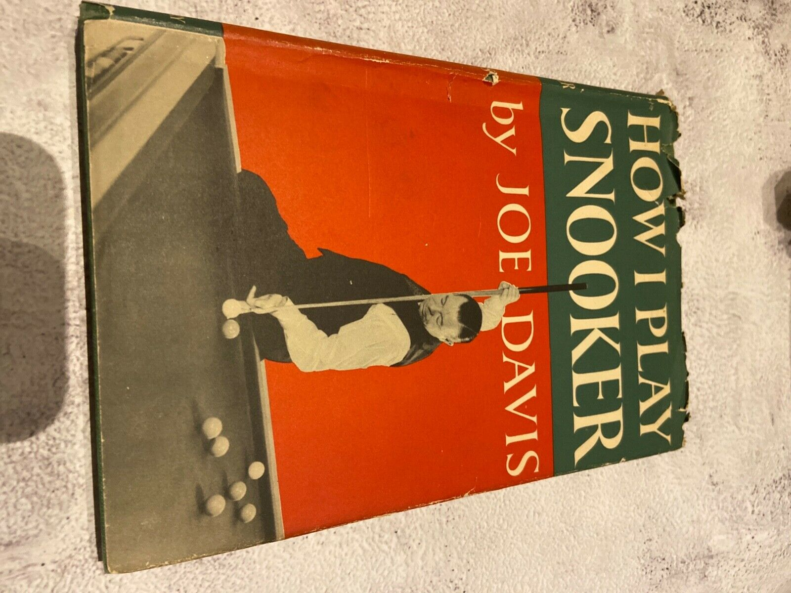 Joe Davis how i play snooker 1949 signed