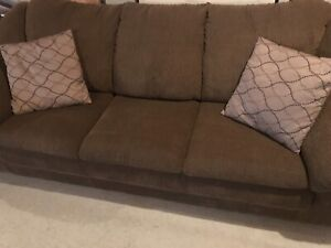 Couch, chair, pillow, rug