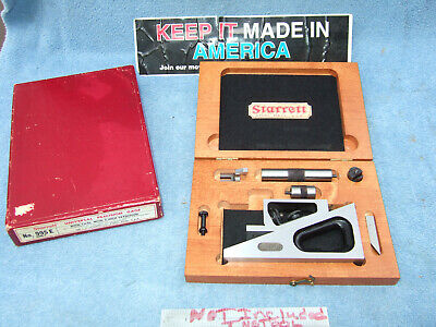 Starrett 995-e Planer Gage In Case Machinist Toolmaker Inspection Grind Layout