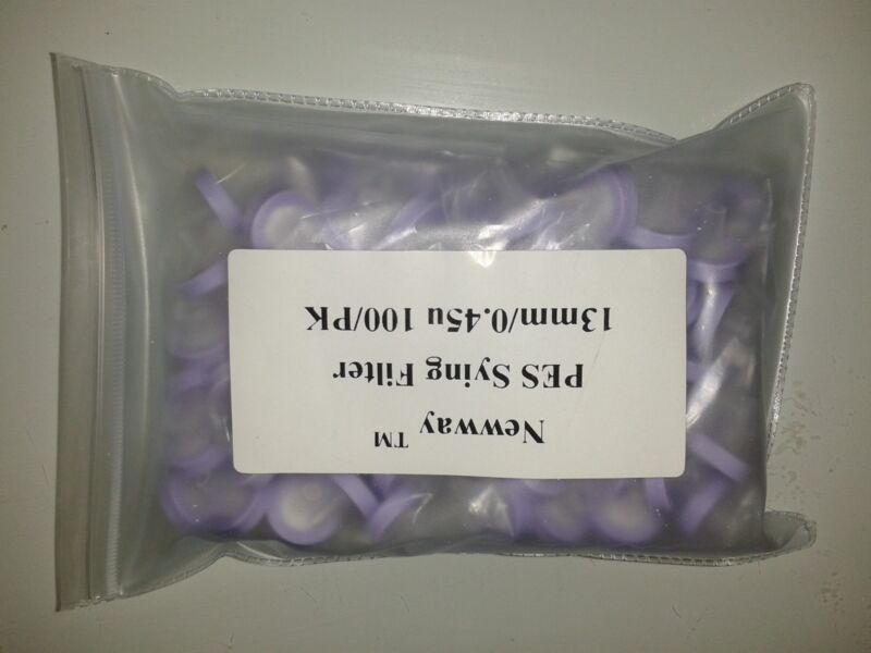 PES Syringe Filter 13mm/0.45u   100/PK, HPLC, LY-1002