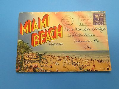 Vintage Souvenir Postcard Folder Miami Beach Florida S267