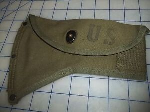 military-vintage-NOS-mint-carrier-axe-ax-camp-M1950-homer-alden-canvas-cotton