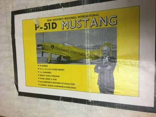 VINTAGE BRIDI / GREAT PLANES BOB HOOVER P-51D MODEL AIRPLANE KIT #455