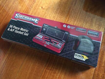 Sidchrome 38Pc Metric & A/F Socket Set + Tape Measure (SEALED) Brunswick East Moreland Area Preview