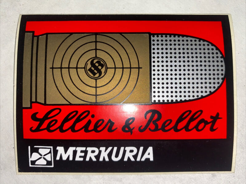 Vintage Sellier And Bellot Ammo Vinyl Decal Sticker Hunting Lodge Rare Original