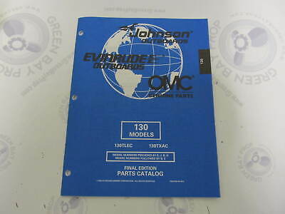 439318 OMC Evinrude Johnson 130 HP Outboard Parts Catalog -