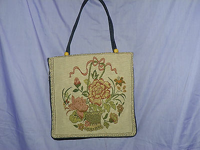 DIFFERENT PATTERNS DENIM TRIM HANDBAG TOTE ZIPPER AROUND OUTSIDE NWOT Denim Purse Patterns