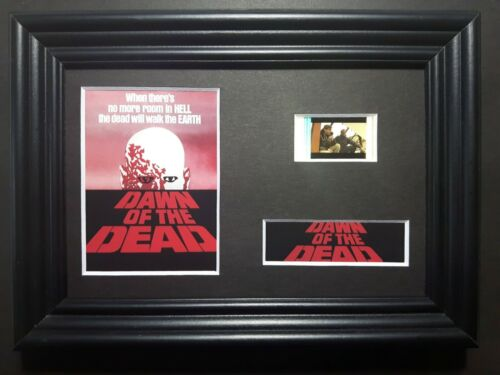 DAWN OF THE DEAD 1978 Framed Movie Film Cell Complements poster dvd book