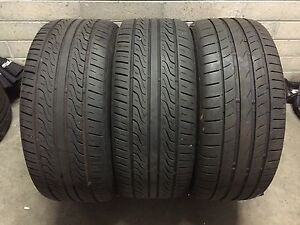 TYRES X 3. Great tread. 235 X 45 X 17. Continental and Toyo South Melbourne Port Phillip Preview