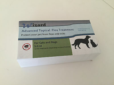 THE WIZARDS SECRET FOR ADVANCED FLEA CONTROL- 20 TREATMENTS for 6 to 16 lb Pets