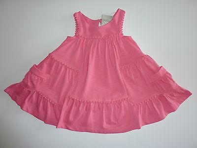 Cute Little Mädchen Kleider (NEXT Really Cute Little Pink Pompom Sleeveless Dress NWT)
