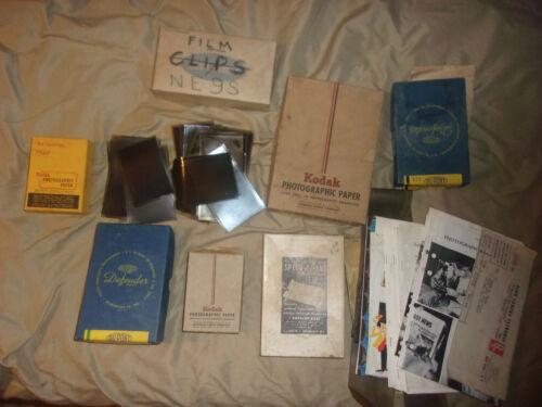 Photography Photo Vintage Lot - Kodak Photographic Paper Negatives Prints