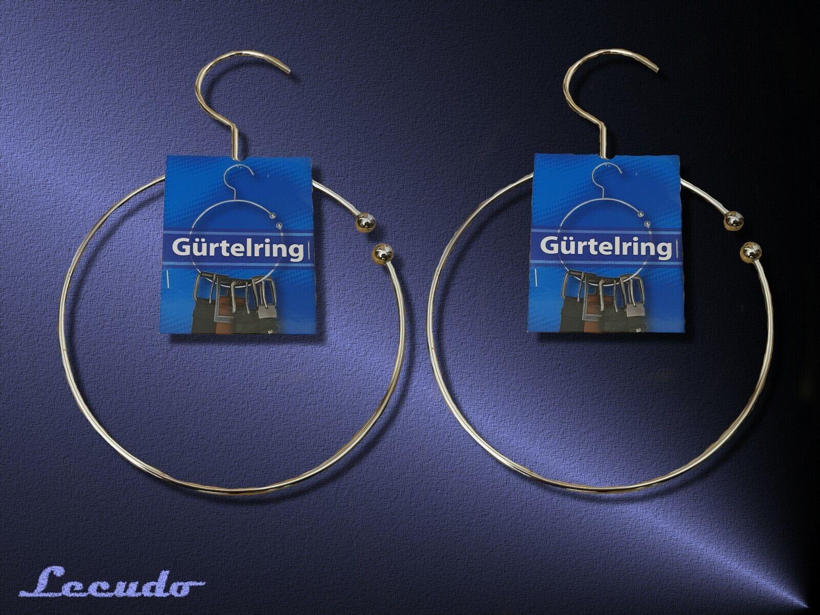 Gürtelring 2x Ring Bügel Kleiderhaken für Gürtel Krawatten Tücher Schal 15cm