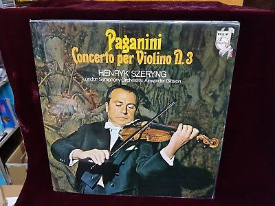 PAGANINI VIOLIN CONCERTO NR. 3 HENRYK SZERYNG PHILIPS 6500 175 1st LABEL
