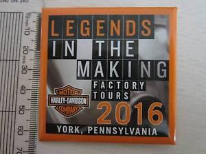 Harley-Davidson Factory Tour (Steel Toe) Souvenir badge - new Newport Hobsons Bay Area Preview