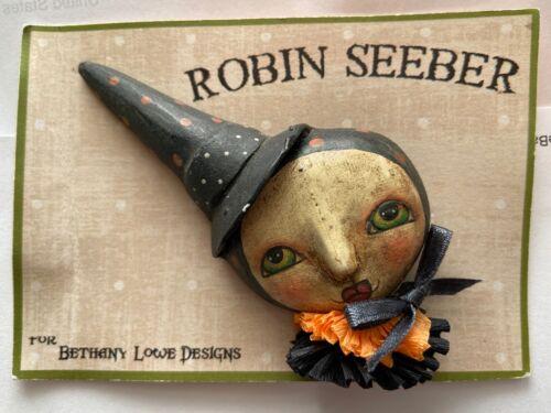 Vintage Bethany Lowe Designs by Robin Seeber Halloween Lady Clown Brooch Pin