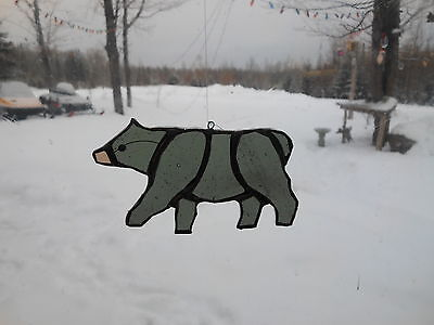 Bear Stained Glass (Black bear, sm. stained glass)