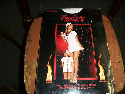 Electric Fetish Nurse Costume-Lingerie Nurse Costume With Elastic Show Me Back](Show Me Lingerie)