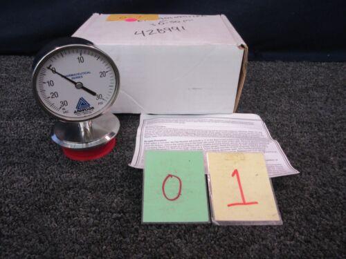 Anderson 30-0-30 Psi Hg Pressure Vacuum Vac Gage Gauge Pharmaceutical PM03EM008