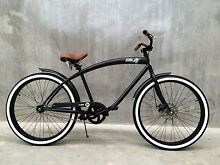 BEACH CRUISER CUSTOM BIKE WIDE RIM CHOPPER WHITE WALLS 26 INCH Kelvin Grove Brisbane North West Preview