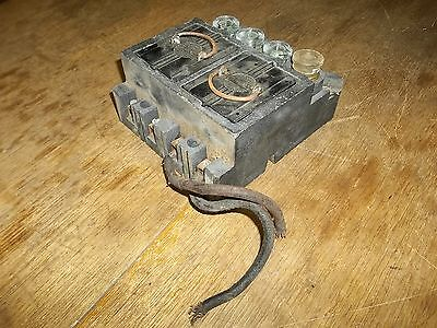 Vintage American Fuse Holder 456-8 W Fuses Free Shipping