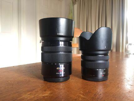Panasonic lumix 14-42 f3.5-5.6 and 45-150 f4-5.6