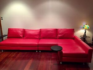 King Delta Leather Sofa Castle Cove Willoughby Area Preview
